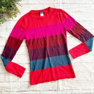 PATAGONIA striped 100% Merino Wool rainbow sweater Small S